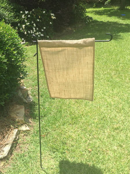 Burlap Plain Garden Flags