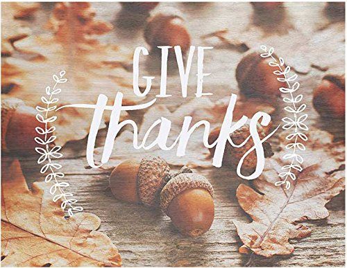 Light Box Insert Acorns Give Thanks