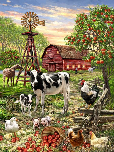 Barnyard Animals - 500 pieces