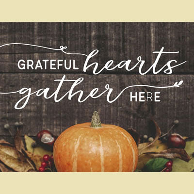 Light Box Insert Grateful Hearts Gather