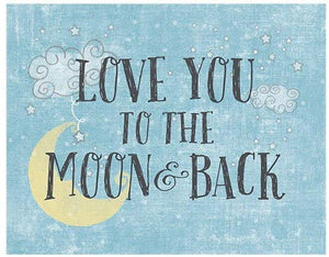 Light Box Insert Love You To The Moon and Back