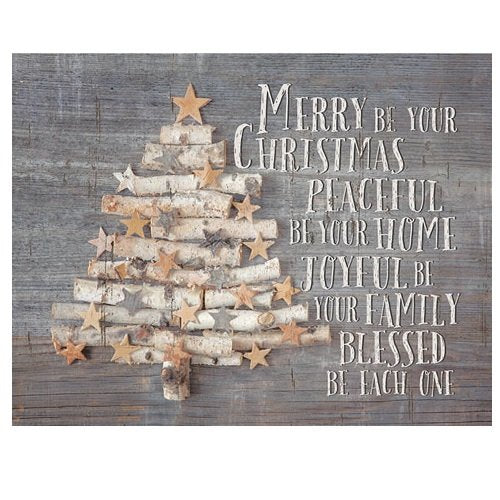 Light Box Insert Birch Christmas Tree