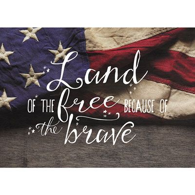 Light Box Insert Rustic Flag Land of the Free