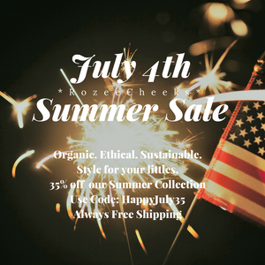 RozeeCheeks Organic Baby 4th of July BIG Sale!