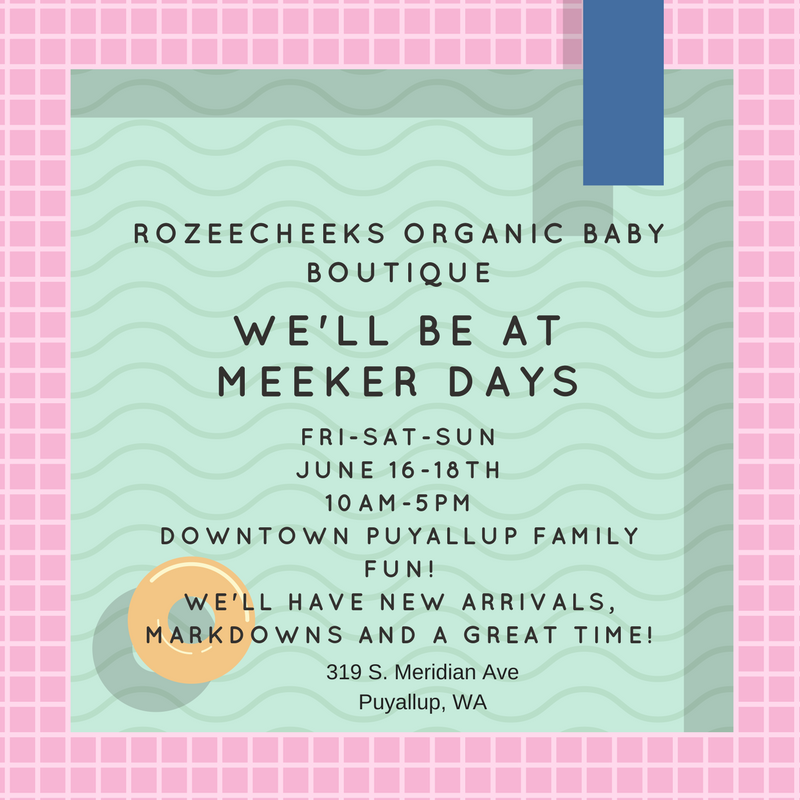 RozeeCheeks Organic Baby Boutique and Meeker Day's in Puyallup!