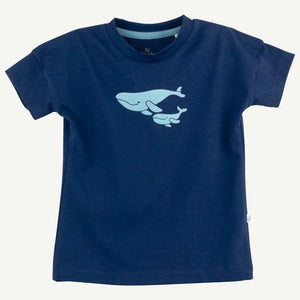 Navy Whale Graphic Short Sleeve Tee