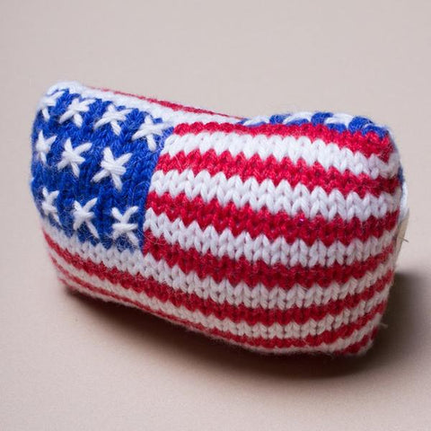 Organic American Flag Rattle Baby Toy