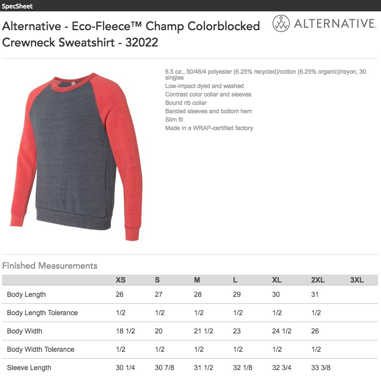 Alternative Eco Fleece Sweatshirt