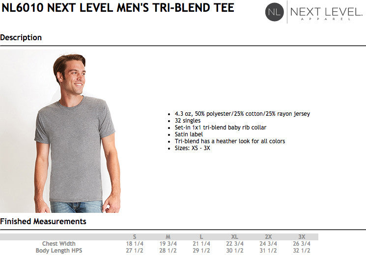 Next Level Tri Blend Size Chart.psd