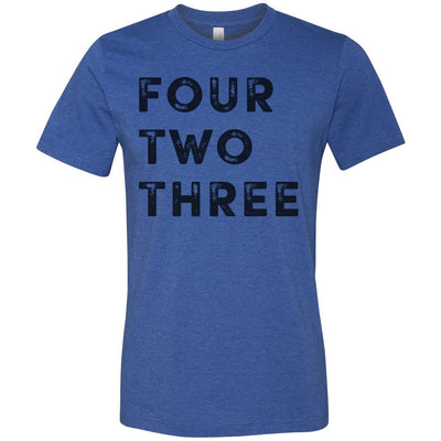 Adult Four Two Three 423 Area Code T-Shirt Royal