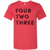Adult Four Two Three 423 Area Code T-Shirt Red
