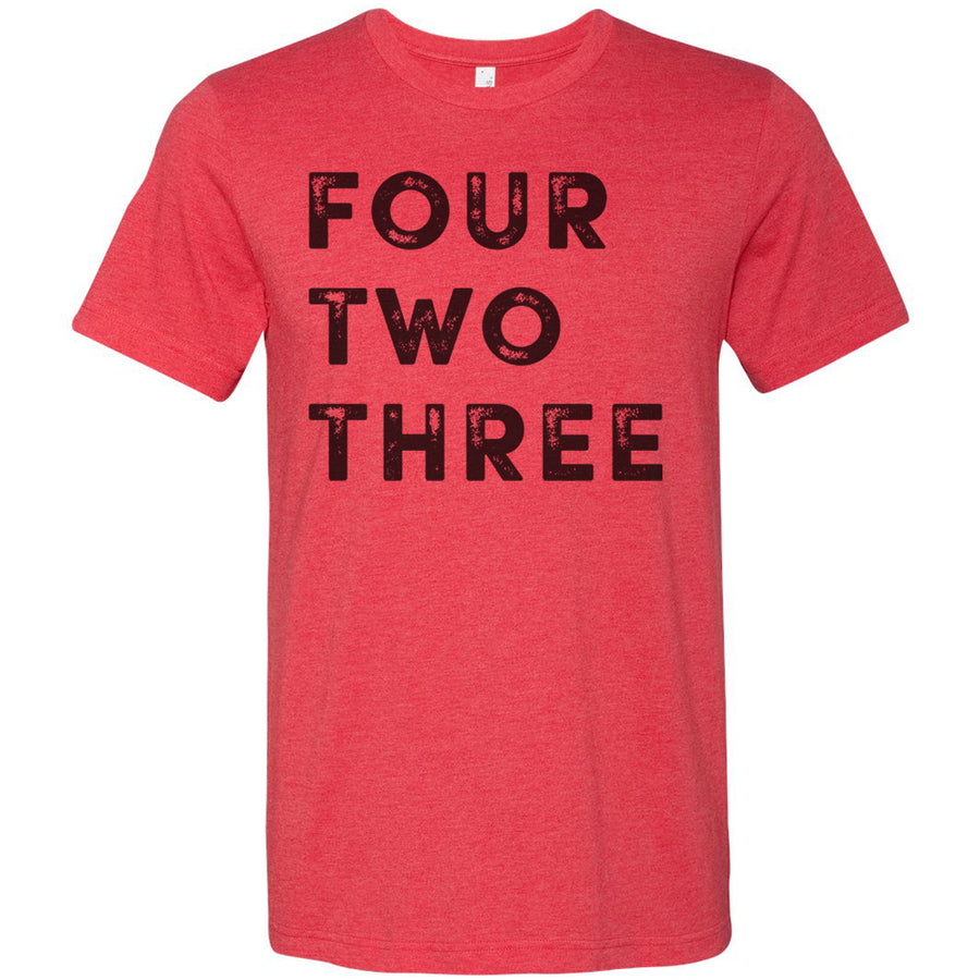 Adult Four Two Three 423 Area Code T-Shirt Grey