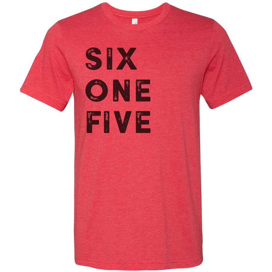 Adult Six One Five 615 Area Code T-Shirt Grey