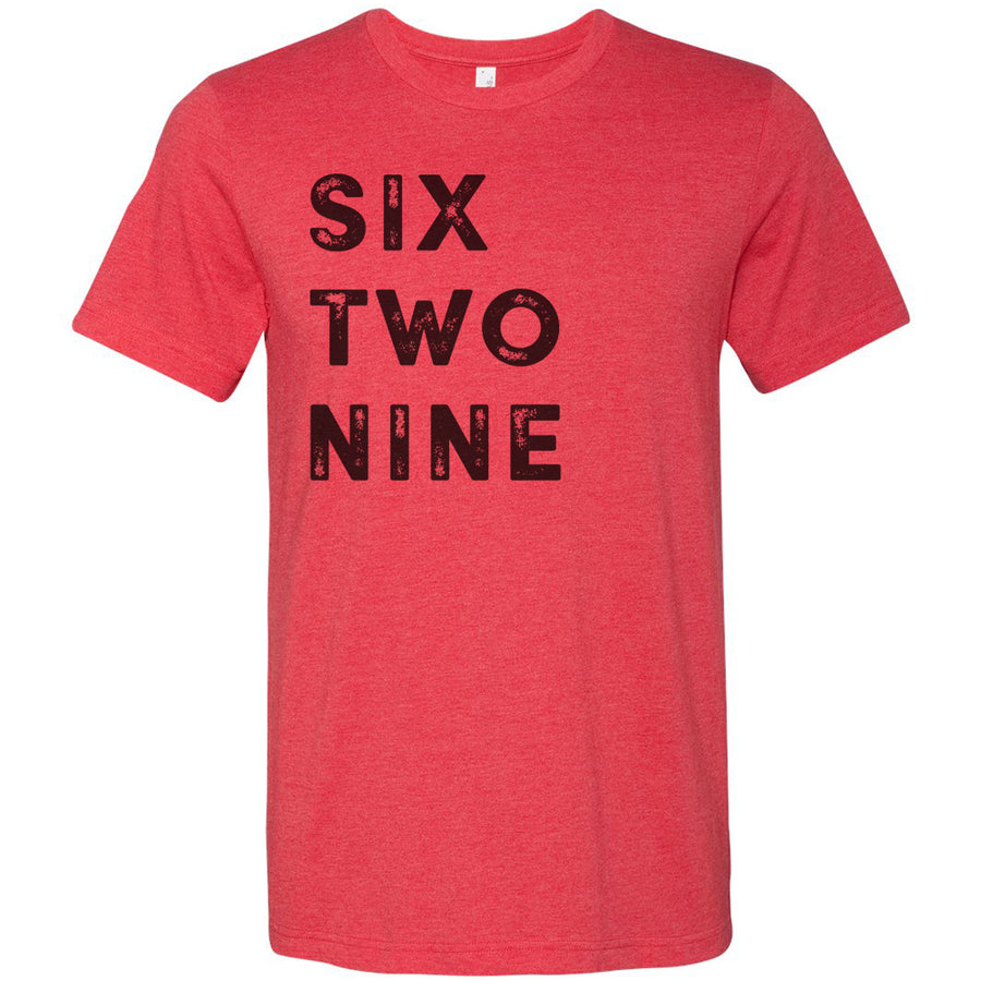 Adult Six Two Nine 629 Area Code T-Shirt Grey