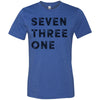 Adult Seven Three One 731 Area Code T-Shirt Royal