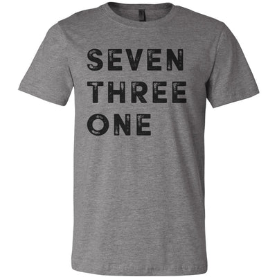 Adult Seven Three One 731 Area Code T-Shirt Grey