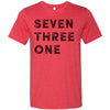 Adult Seven Three One 731 Area Code T-Shirt Red