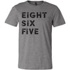 Adult Eight Six Five 865 Area Code T-Shirt Grey