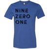 Adult Nine Zero One 901 Area Code T-Shirt True Royal