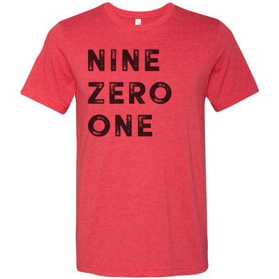 Adult Nine Zero One 901 Area Code T-Shirt Red