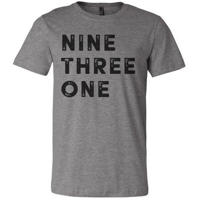 Adult Nine Three One 931 Area Code T-Shirt Grey