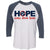 Adult Hope Comes From Home Navy Raglan - 100% of profit to Cookeville Putnam County Tornado Relief Fund