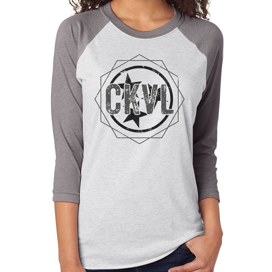 Adult CKVL Cookeville Tri Star on a Grey Sleeve Raglan
