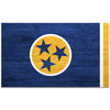 Blue & Yellow Woodgrain Tennessee Flag 4 Inch Decal