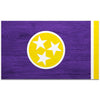 Purple & Yellow Woodgrain Tennessee Flag 4 Inch Decal