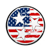 American Flag Tri Star 3 Inch Decal