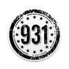 931 Area Code 3 Inch Decal