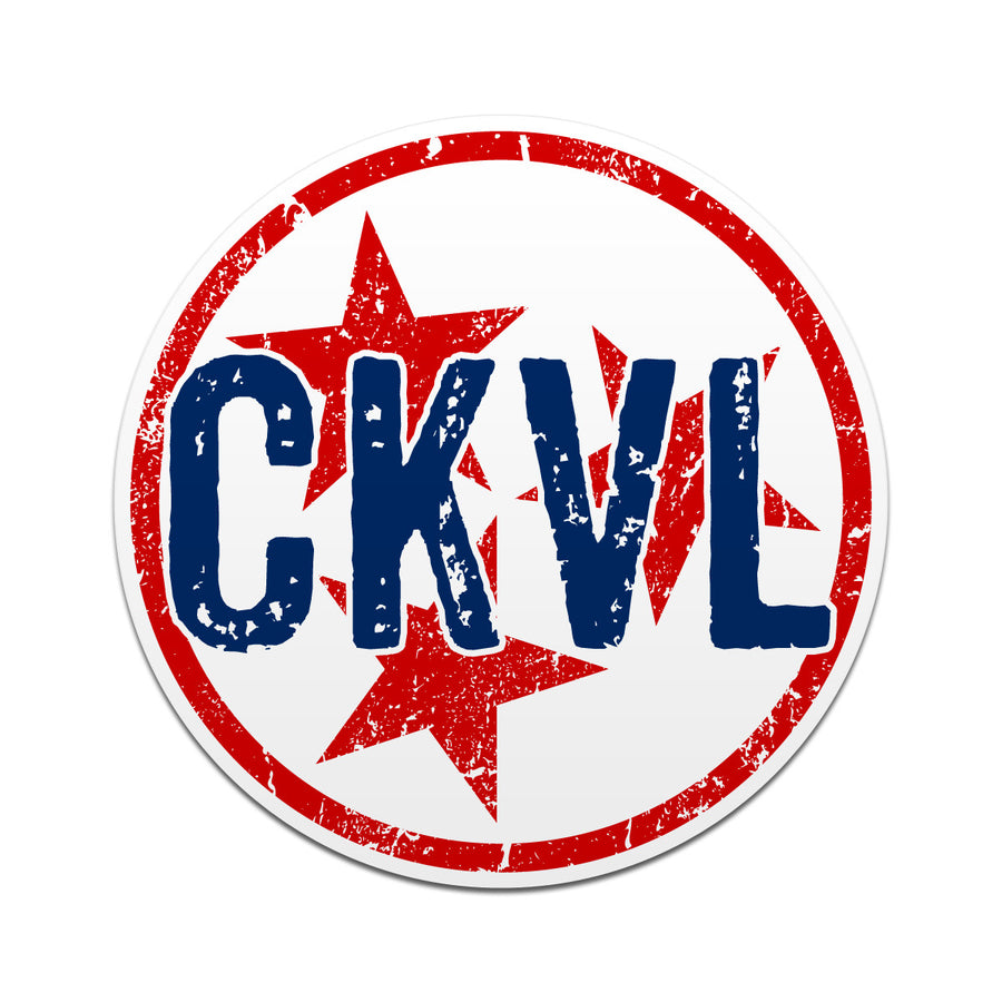 CKVL Cookeville TN Tri Star 3 Inch Decal