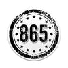 865 Area Code 3 Inch Decal