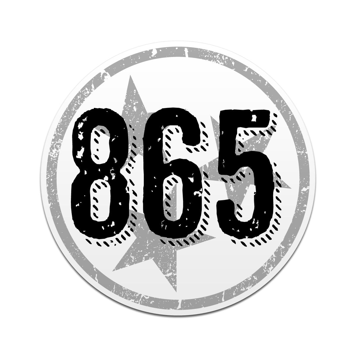 865 Area Code Tri Star 3 Inch Decal