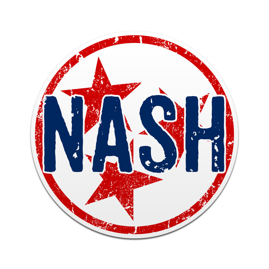 NASH Nashville TN Tri Star 3 Inch Decal