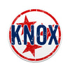 KNOX Knoxville TN Tri Star 3 Inch Decal