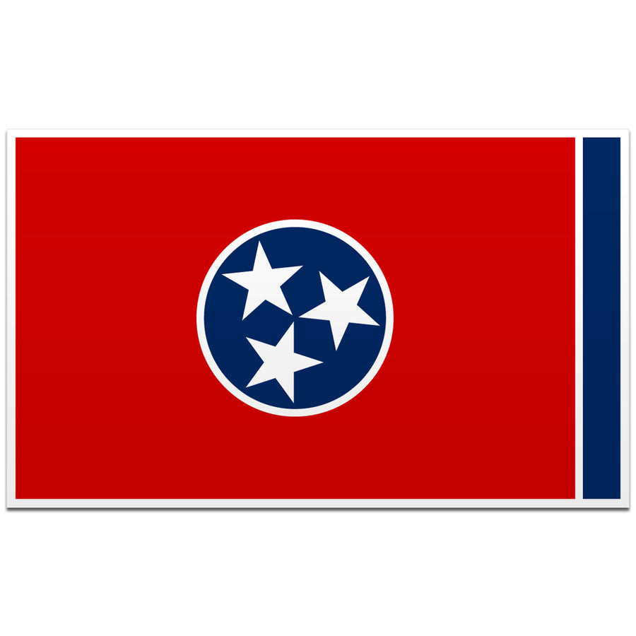 Traditional Tennessee Flag 4 Inch Decal