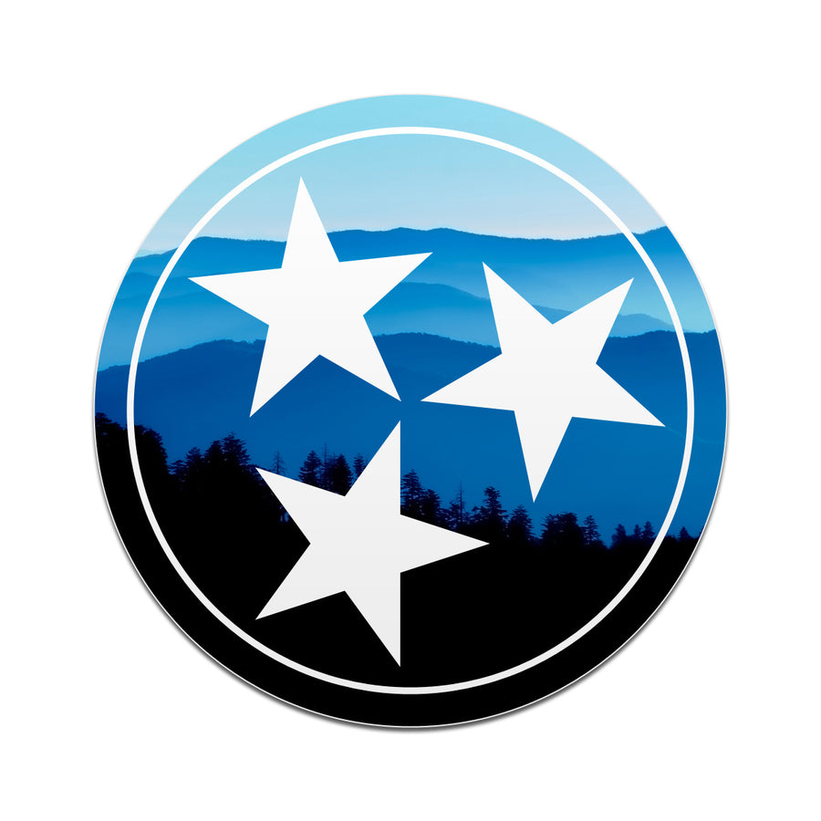 Great Smoky Mountains Tri Star 3 Inch Decal
