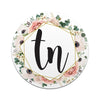 TN FLORAL Tri Star 3 Inch Decal