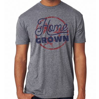 Adult Home Grown Tri Star on a Grey T-Shirt