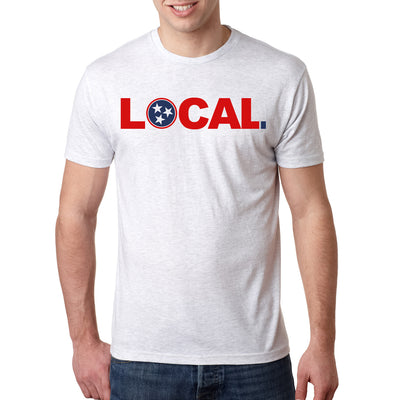 Adult Tennessee Local on a Heather White T-Shirt