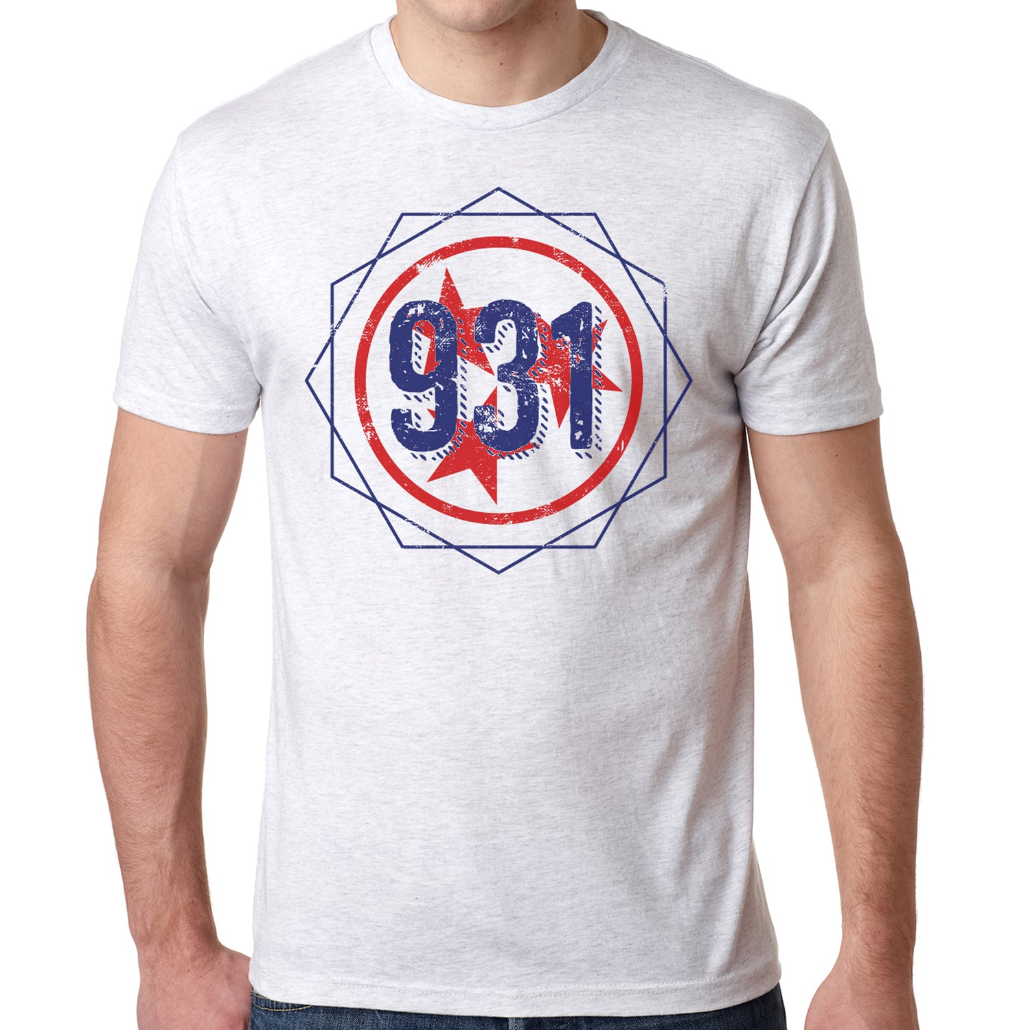 Adult Nine Three One On A Grey TShirt Cookeville TN Putnam - 931 area code