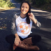 Adult Orange Hollow Tri Star on a Grey/Heather White Raglan