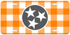 Grey Tri Star Checkerboard License Plate