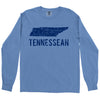 Adult Tennessean on a Long Sleeve Flo Blue T-Shirt