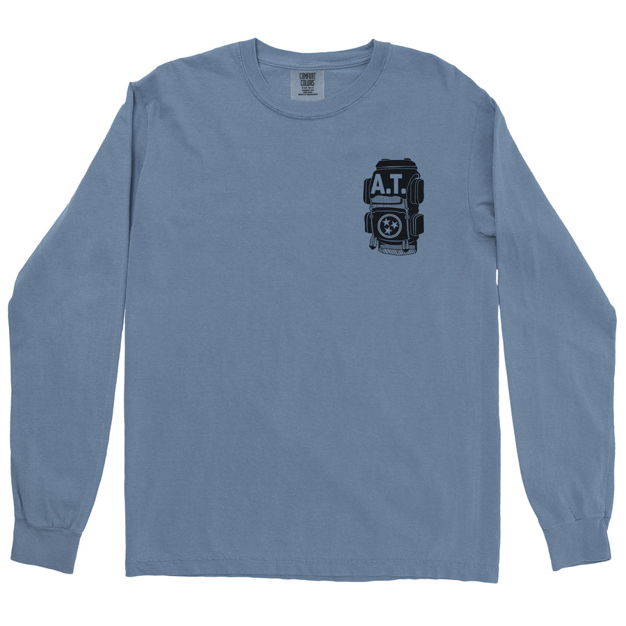 Clearance Adult Appalachian Trail on a Long Sleeve Blue Jean T-Shirt