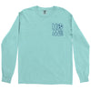 Adult Home Sweet Home on a Long Sleeve Chalky Mint T-Shirt