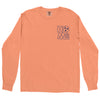Clearance Adult Home Sweet Home on a Long Sleeve Melon T-Shirt