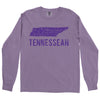 Adult Tennessean on a Long Sleeve Violet T-Shirt