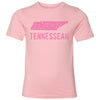 Kids Tennessean on a Light Pink T-Shirt